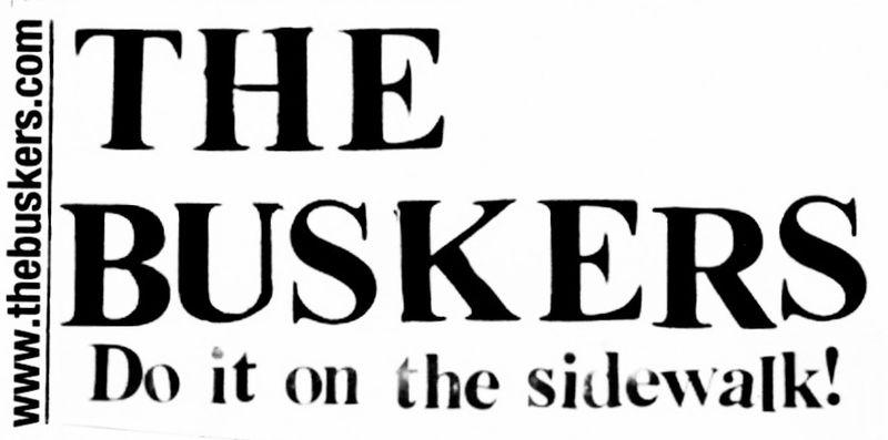 Buskers bumper sticker003