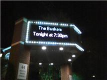 Buskers marquee